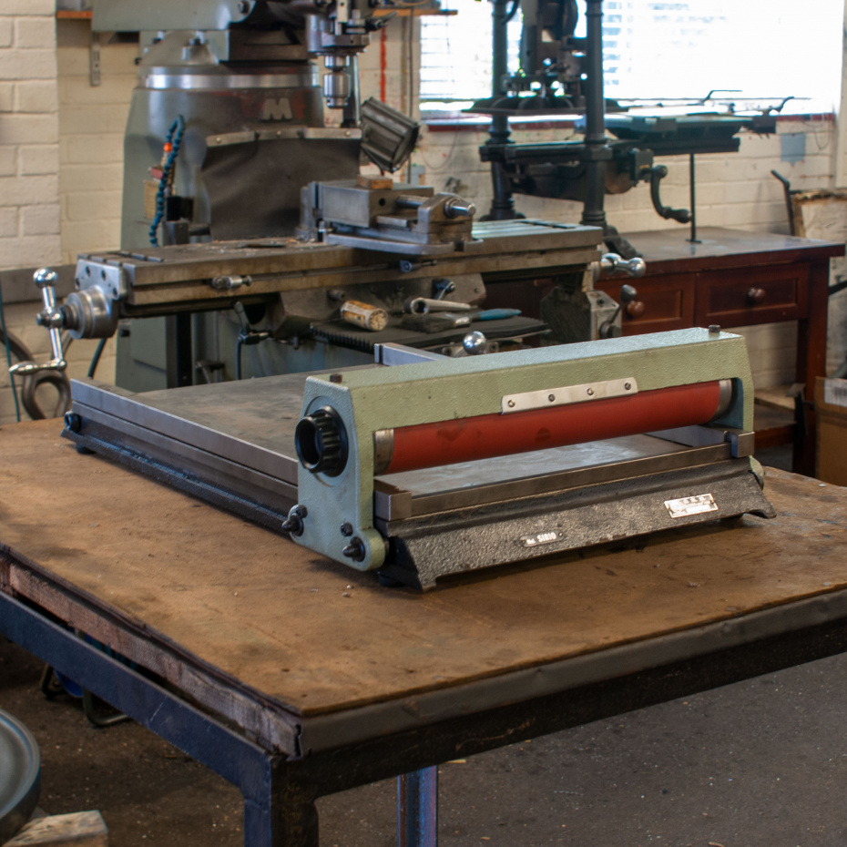 Sirio table top proofing press for sale with re-covered impression roller