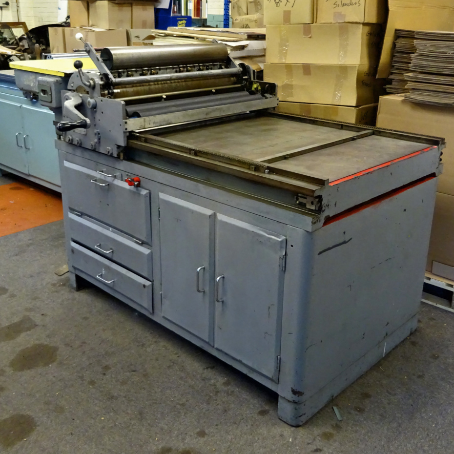 The British 4c/30 Western proofing press for sale